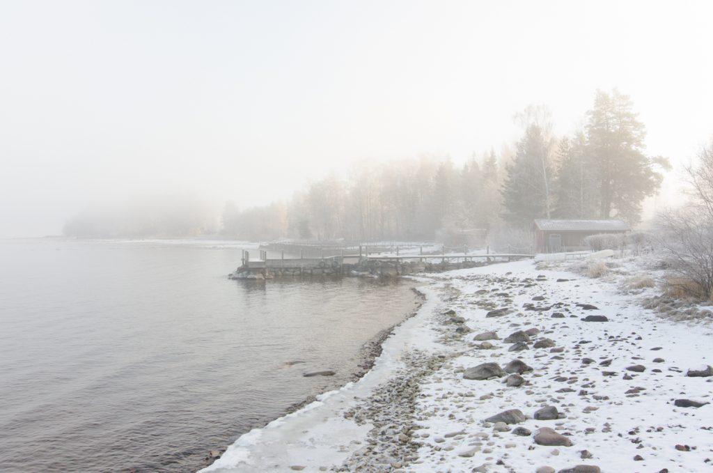Vinter vid Siljan